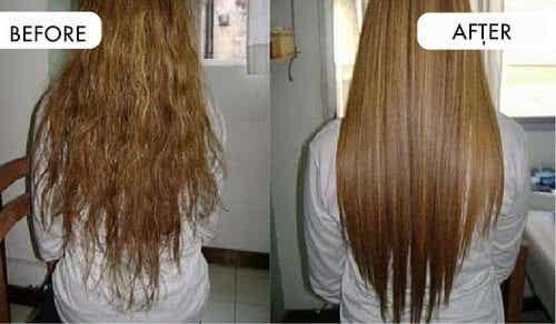 用廚房裡可取得的天然成分拉直頭髮