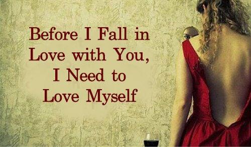 愛上你之前,我需要先愛自己
