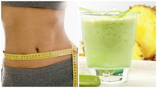 消除腹部脂肪和腹部腫脹的淨化飲品