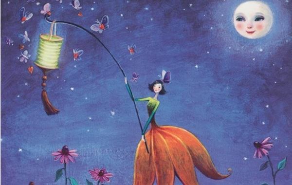 女孩與燈籠