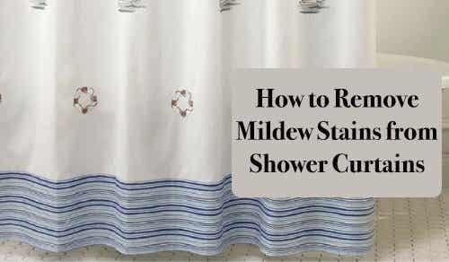 如何清除浴簾上的霉斑