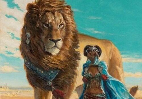 獅子與女人