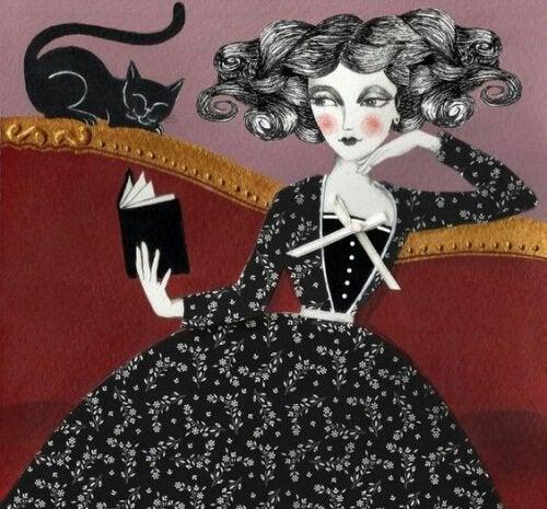 黑貓與女人