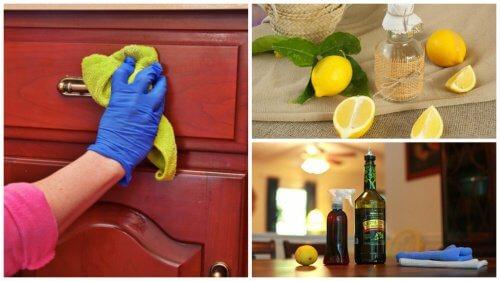 自製清潔用品去除家具上的灰塵