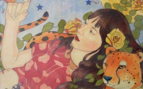 女人和老虎