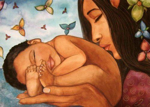媽媽與嬰兒