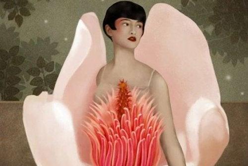 女人和花朵