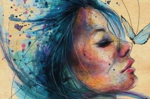 女人和藍髮