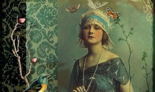 女人和蝴蝶