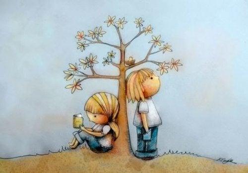 樹下的小孩