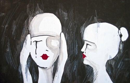 兩個哭泣的人