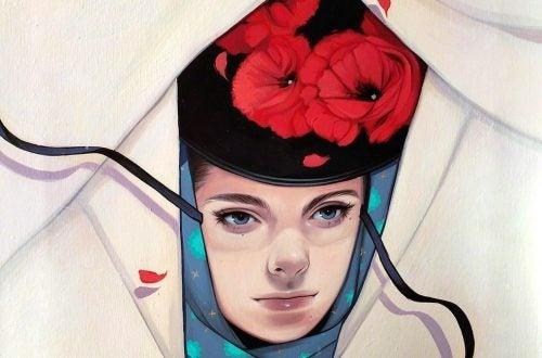 女孩與紅花帽