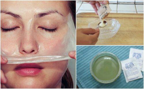 製作清除黑頭粉刺的牛奶明膠面膜