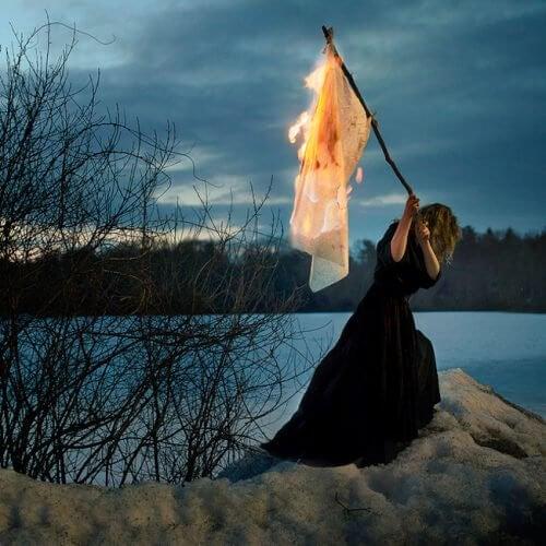 燃燒的旗子