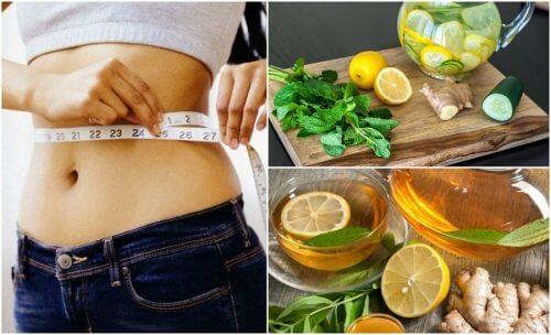 用薑和檸檬對抗脹氣並減重