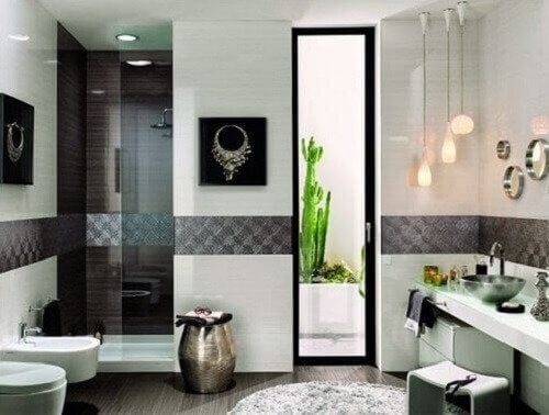 良好採光的浴室