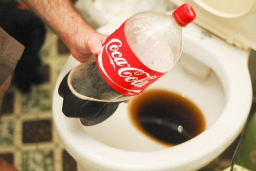 用可樂清潔馬桶