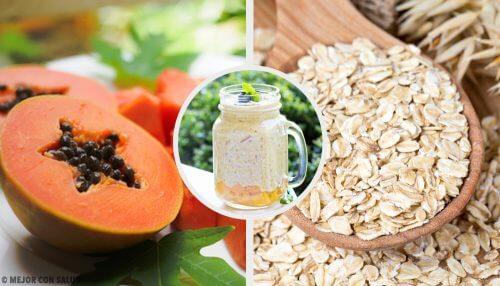 木瓜蘋果燕麥調合飲可平衡你的消化系統