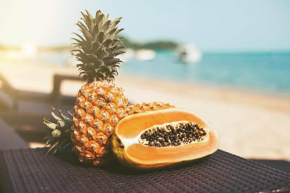 以木瓜與鳳梨為身體排毒