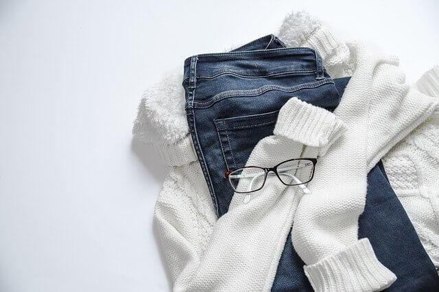 毛衣牛仔褲
