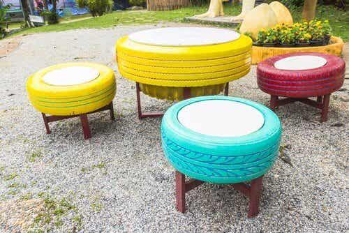 8種使用舊輪胎的方法