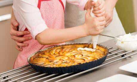 美味的蘋果乳霜派食譜