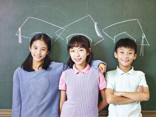 日本小孩微笑