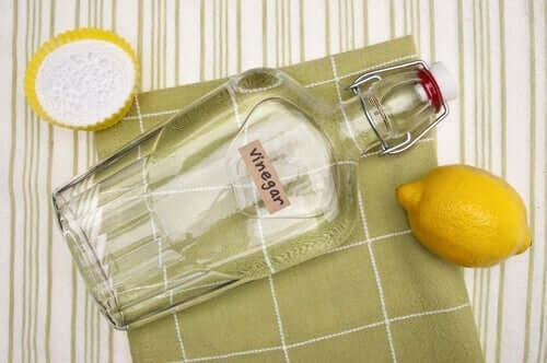 白醋和檸檬混合物
