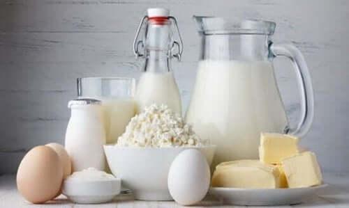 不同乳製品