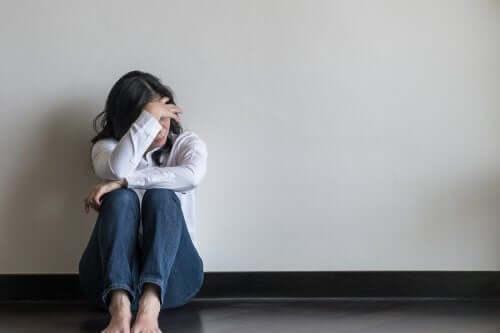 憂鬱或焦慮的女人